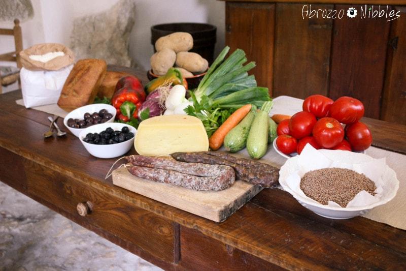 La spesa fatta al mercato di Sulmona