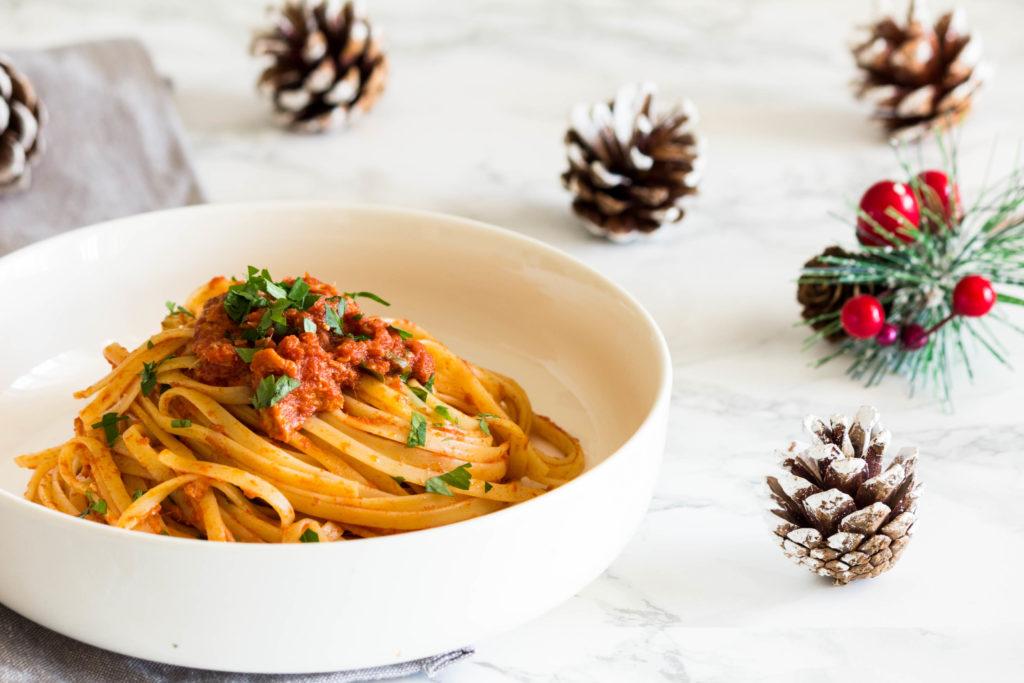 Pasta tonno e sarrde, primo piatto della Vigilia di Natale in Abruzzo