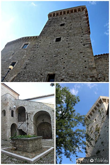 Il Castello Masciantonio con la torre e la corte interna