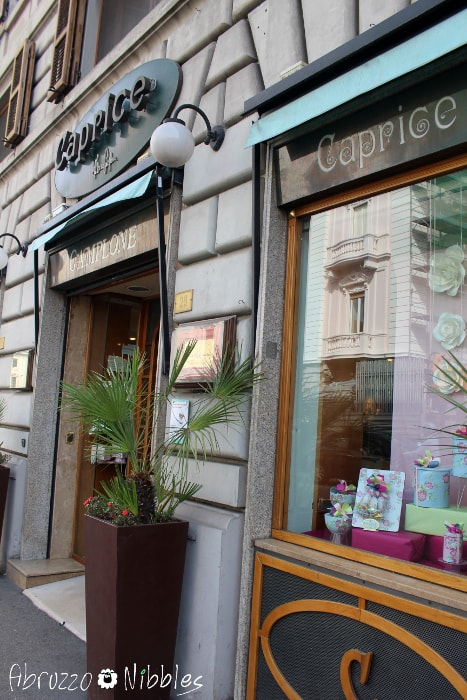 La pasticceria-gelateria Caprice di Fabrizio Camplone a Pescara